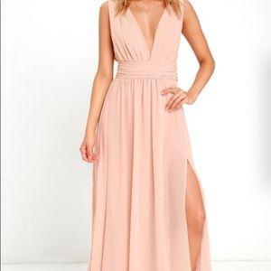 Lulus long blush dress